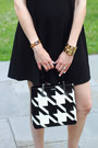 Black-mini-dress-mango-dress-black-houndstooth-lamarthe-bag