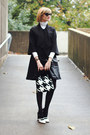 Black-cape-julie-brown-coat-black-sheer-hanes-tights