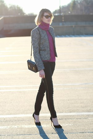 gold agate Taryn Reed bracelet - black skinny Zara jeans