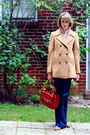 Beige-brooks-brothers-coat-blue-7-for-all-mankind-jeans-brown-vintage-shoes-