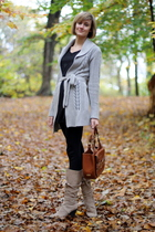 Express sweater - H&M top - Splendid leggings - Bally purse - Enzo Angiolini boo