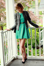 Aquamarine-flared-skirt-romwe-dress