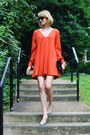 Black-mini-sophie-hulme-bag-carrot-orange-open-sleeve-asos-dress