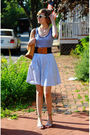Blue-inc-top-blue-vintage-skirt-blue-vintage-belt-blue-h-m-sunglasses-be