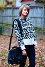 White-french-connection-sweater-navy-h-m-jeans-black-saddleback-leather-bag-