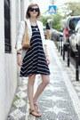 Navy-striped-mango-dress-white-tailored-zara-blazer