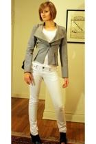cherry tee t-shirt - Reiss blazer - Chanel purse - Mango jeans - Pour La Victoir