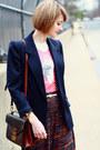 Navy-print-forever-21-pants-navy-boyfriend-vintage-blazer