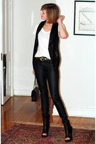 H&M vest - vintage belt - H&M jeans - Givenchy boots - Chanel purse - Target t-s