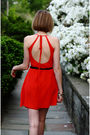 Red-sea-dress-black-h-m-jacket-black-miu-miu-shoes-gold-hermes-bracelet-