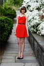 Red-sea-dress-black-h-m-jacket-black-miu-miu-shoes-gold-hermes-bracelet-