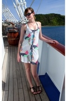 Ray Ban sunglasses - Insight dress - Jocomomola swimwear - Theory shoes