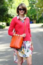 carrot orange shoulder bag romwe bag - ivory asos dress