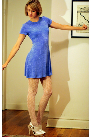 vintage dress - H&M stockings - Topshop shoes