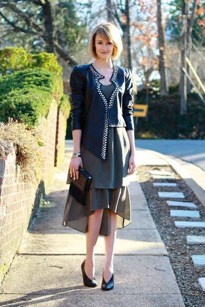 olive green sheer long banana republic dress
