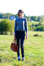 Red-llbean-shirt-blue-h-m-jeans-brown-dr-martens-shoes-brown-bally-bag-g