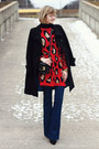 Black-tailored-marc-new-york-coat-navy-flared-j-brand-jeans