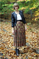 vintage skirt - H&M jacket - Forever 21 belt - Givenchy boots - vintage necklace