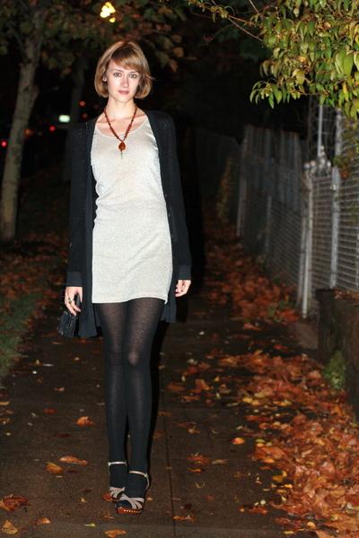 H&M dress - vintage necklace - Report Signature shoes