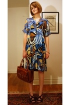 vintage necklace - Tibi dress - Bally purse - Hermes bracelet - Pour La Victoire