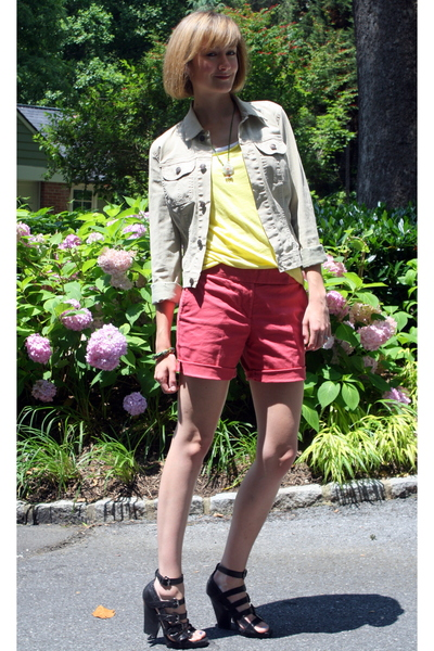 Seven For All Mankind jacket - forever 21 top - American Apparel top - DIY short