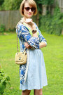 Blue-long-cardigan-anthropologie-sweater-beige-rafia-banana-republic-bag