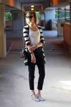 black Young Fabulous and Broke sweater - black cat eye ray-ban sunglasses