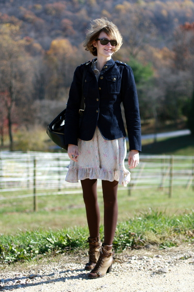 Alice Temperley for Target jacket - vintage dress - born boots - Boyy purse - Ra