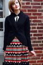 Black-shawl-collar-la-redoute-sweater-black-patent-tote-lamarthe-bag