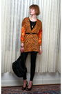 Orange-vintage-top-black-costume-dept-leggings-black-proenza-schouler-shoes-