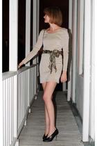 H&M dress - m missoni scarf - maison martin margiela boots - Christopher Kane fo