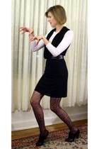 Blu Heaven dress - Petit Bateau shirt - Topshop belt - Eloise tights - Pour La V