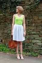 American Apparel top - vintage necklace - vintage skirt - Stella McCartney shoes