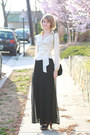 Black-velvet-tassel-vintage-bag-ivory-satin-wrap-top-the-limited-blouse-blac