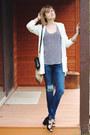 Navy-distressed-dl1961-jeans-black-mini-sophie-hulme-bag