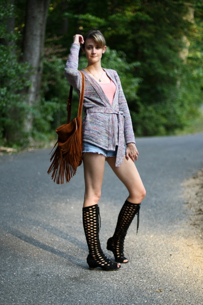 H&M sweater - Urban Outfitters purse - Michael Stars top - Urban Outfitters boot