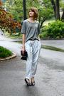 Silver-forever-21-t-shirt-blue-vintage-pants-black-maison-martin-margiela-sh