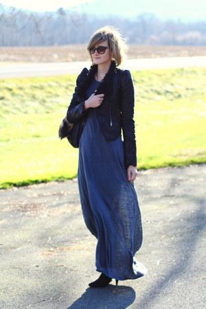 black romwe jacket - black Zara boots