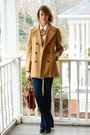 Camel-brooks-brothers-coat-navy-flared-j-brand-jeans