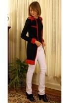 Target sweater - Petit Bateau t-shirt - Mango jeans - Pour La Victoire boots