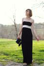 Black-maxi-dress-iisli-dress-black-clutch-fringe-topshop-bag