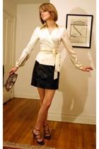 The Limited blouse - Urban Outfitters skirt - Lauren Merkin purse - Report Signa