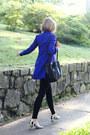 White-striped-nicholas-kirkwood-shoes-blue-shirt-dress-sunner-dress