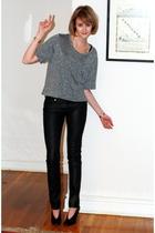 Forever21 t-shirt - H&M jeans - maison martin margiela shoes - vintage bracelet