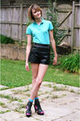 Blue-lacoste-top-black-topshop-shorts-blue-happy-socks-black-mango-shoes