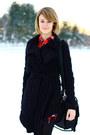 Black-lace-up-boots-pour-la-victoire-boots-red-plaid-forever-21-dress-black-