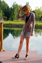 H&M sweater - cherry tee top - boutique on Nantucket necklace - vintage shorts -
