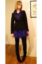 Sunner dress - Chanel purse - banana republic blazer - Target pants - Zara boots