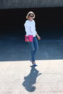 Pumps-zara-heels-skinny-current-elliott-jeans-clutch-asos-bag