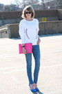 Skinny-current-elliott-jeans-clutch-asos-bag-wayfarer-ray-ban-sunglasses